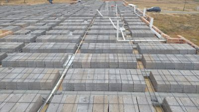 image showing rib & block slab with mesh and pipes