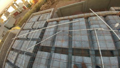 image showing rib & block slab with mesh and beam wireframe